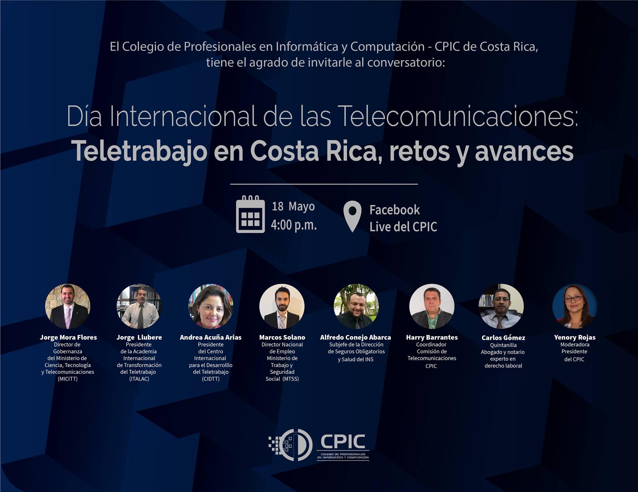 Conversatorio virtual: ¿Cuáles han sido los retos y alcances del teletrabajo ante el Covid19 en Costa Rica?
